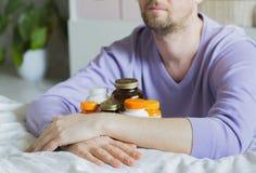 维生素、药物、药片和片剂 免版税库存照片