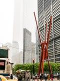 生活之乐雕塑在更低的曼哈顿 库存照片