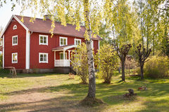 生活农村瑞典 库存照片
