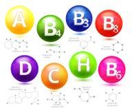 维生素化学结构 库存例证