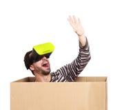 生活在一个虚拟世界上,概念 免版税库存照片