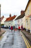 生活在英国村庄 库存照片