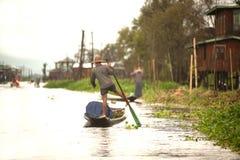 生活在Inle湖,缅甸 免版税库存照片
