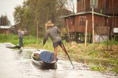 生活在Inle湖,缅甸 图库摄影