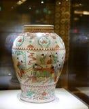 生活场面中国古老瓷  免版税库存照片