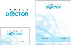 医生医学现代商标名片 向量例证
