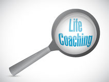 生活教练扩大化玻璃标志象概念 库存照片