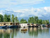 生活方式在Dal湖,斯利那加 免版税库存照片