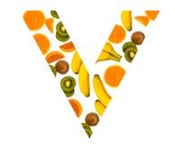 维生素猕猴桃香蕉蕃茄桔子 免版税库存图片