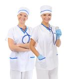 医生医疗微笑的妇女 库存照片