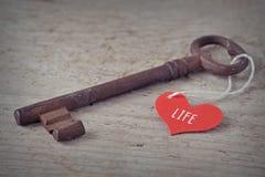 生活钥匙是爱 库存图片