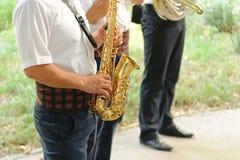 生活音乐会在围场 免版税库存照片