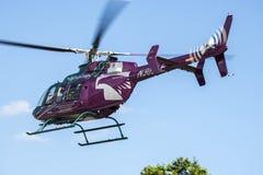 生活飞行直升机 图库摄影