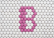 维生素B由药片做成 免版税库存照片