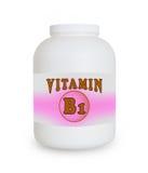 维生素B1容器 免版税库存照片