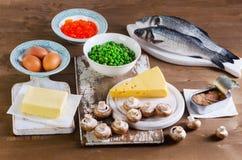 维生素D食物  免版税库存图片
