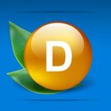 维生素D 库存例证