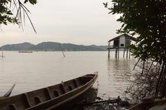 生活Fisher湖宋卡 库存图片