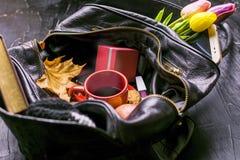 用不同的事的夫人袋子, 免版税图库摄影