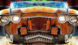 用不同的作用的老破烂物汽车 免版税库存图片