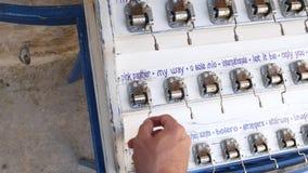 用不同的声调的音箱 可用所有的旁做多数牡蛎手段贝壳界面纪念品海星夏天他们vare木头 手转弯 影视素材