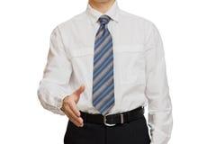 用不同的姿态手的商人 免版税图库摄影