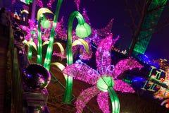 用不同的形状的霓虹灯 免版税库存图片