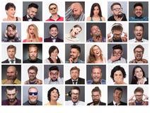 用不同的情感的人们 免版税库存照片