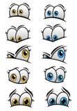 用不同的情感的Cartooned眼睛 免版税库存照片