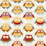 用不同的猫头鹰的样式 免版税库存图片