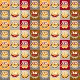 用不同的猫头鹰的样式 库存图片