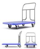 用不同的种类的运输台车 库存例证