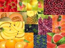 用不同的纹理和颜色的不同的果子 免版税库存图片
