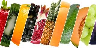 用不同的纹理和颜色的不同的果子 免版税图库摄影