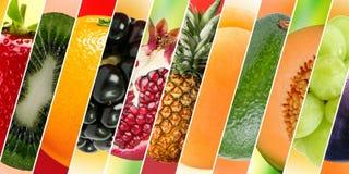用不同的纹理和颜色的不同的果子 图库摄影