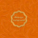 用不同的线的橙色抽象背景 象胶或舞步 向量例证