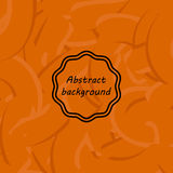 用不同的线的橙色抽象背景 象胶或舞步 皇族释放例证