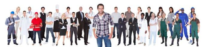 用不同的职业的不同的人 免版税库存照片