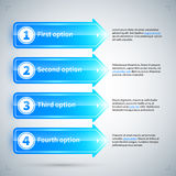 用不同的选择的4个被编号的箭头 免版税库存图片