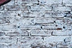 用不同的颜色绘的砖墙 图库摄影