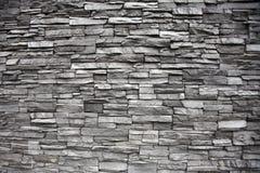 用不同的高度的被堆积的石墙 库存图片
