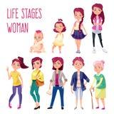 用不同的年龄设置的妇女 免版税库存图片