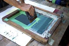 用丝网印刷术印制 免版税库存照片