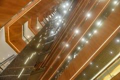 用于商业大厦的被带领的光 免版税库存照片