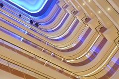 用于商业大厦的被带领的光 库存图片