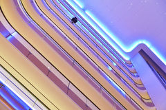 用于商业大厦的被带领的光 库存照片