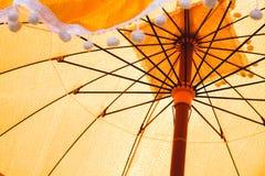 用于整理仪式的古老伞 库存图片