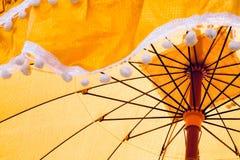 用于整理仪式的古老伞 图库摄影