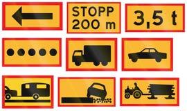 用于瑞典的各种各样的路标 库存例证