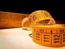 用于裁缝的典型的测量的工具 库存照片